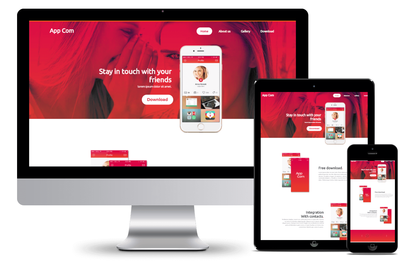 Free Website Template For Application