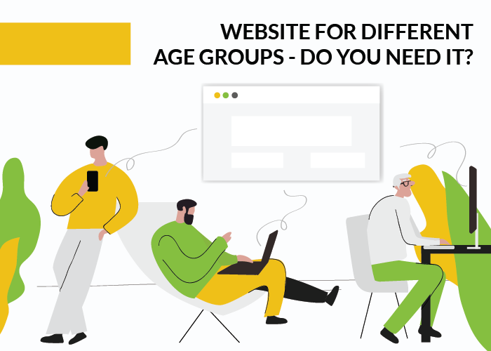 How to create website for different age groups