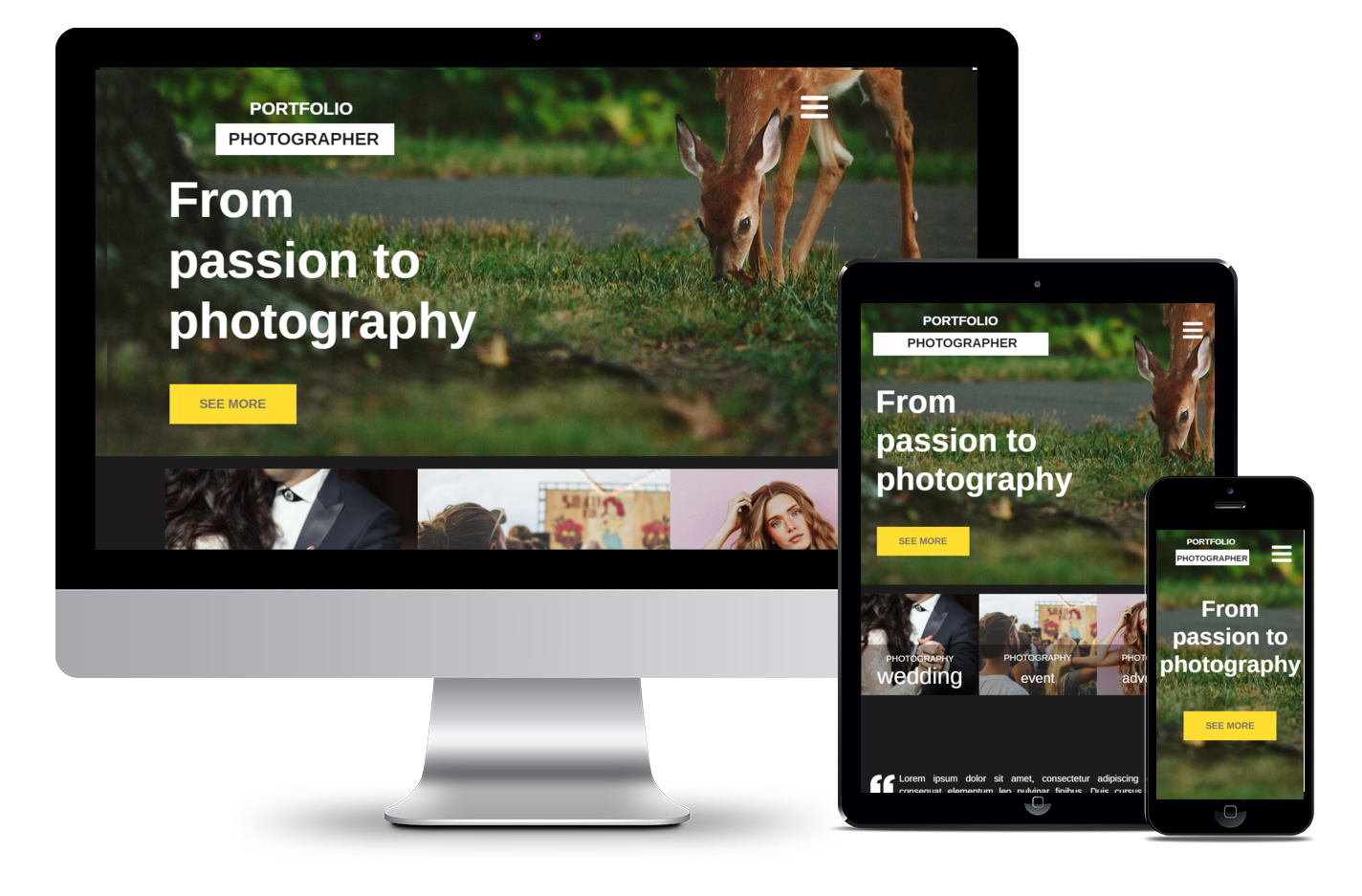 Free Website Template Photography 2